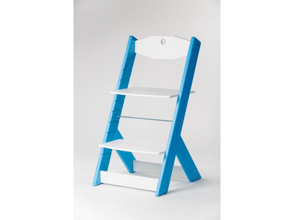 rostoucí židle OMEGA II - PRIME modrá/bílá