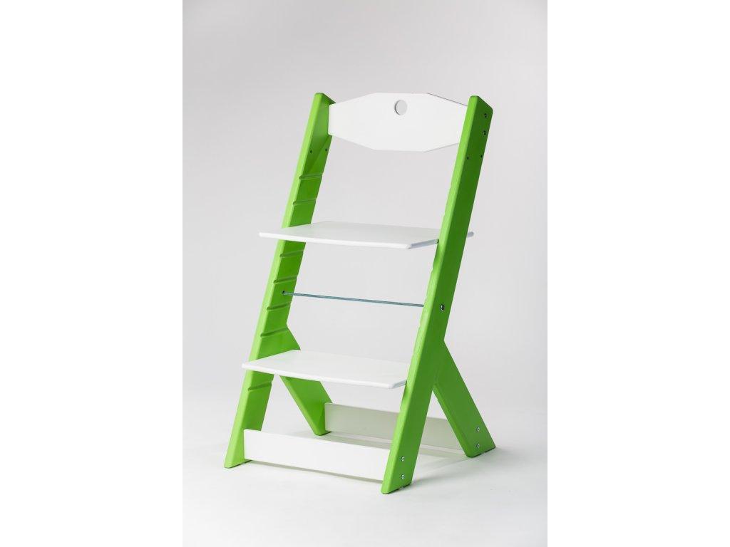 rostoucí židle OMEGA II - PRIME zelená/bílá