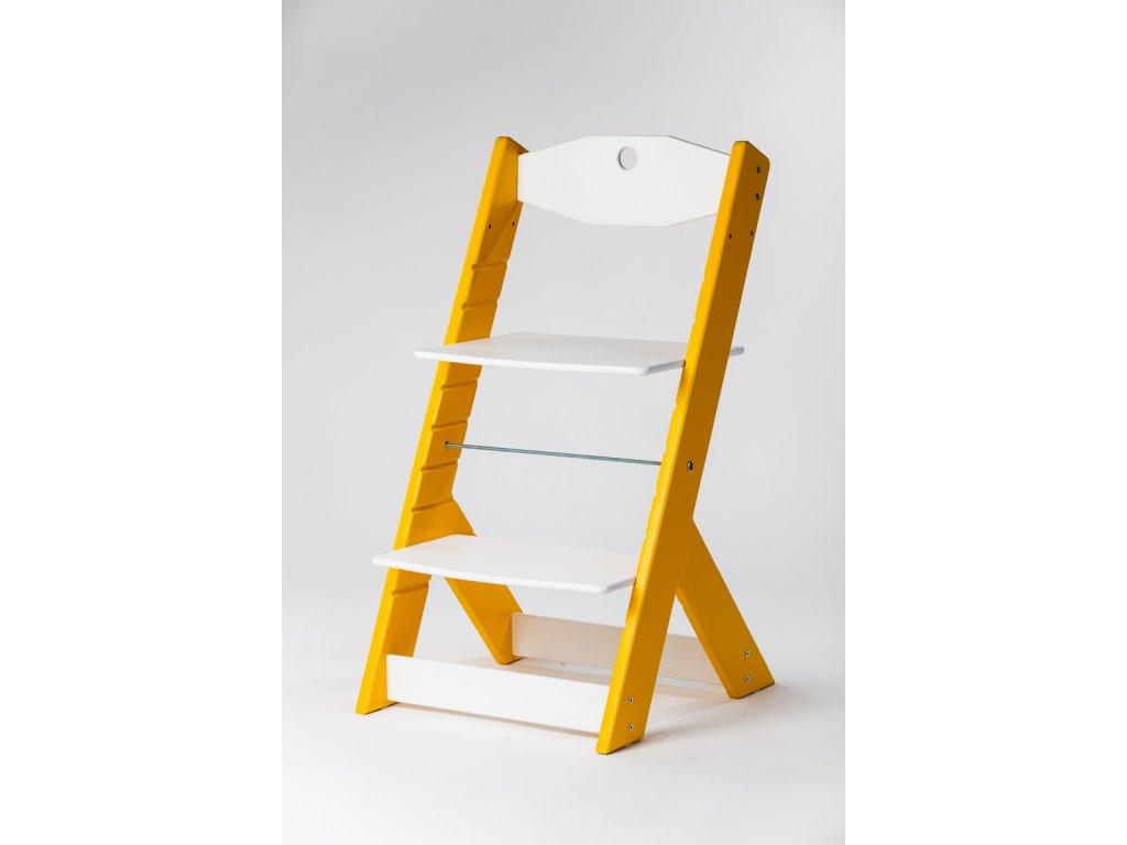 rostoucí židle OMEGA II - PRIME žlutá/bílá