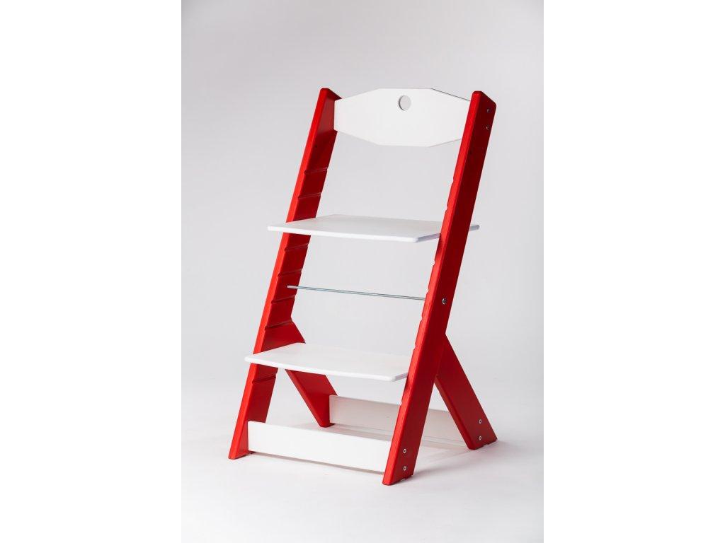 rostoucí židle OMEGA II - PRIME červená/bílá