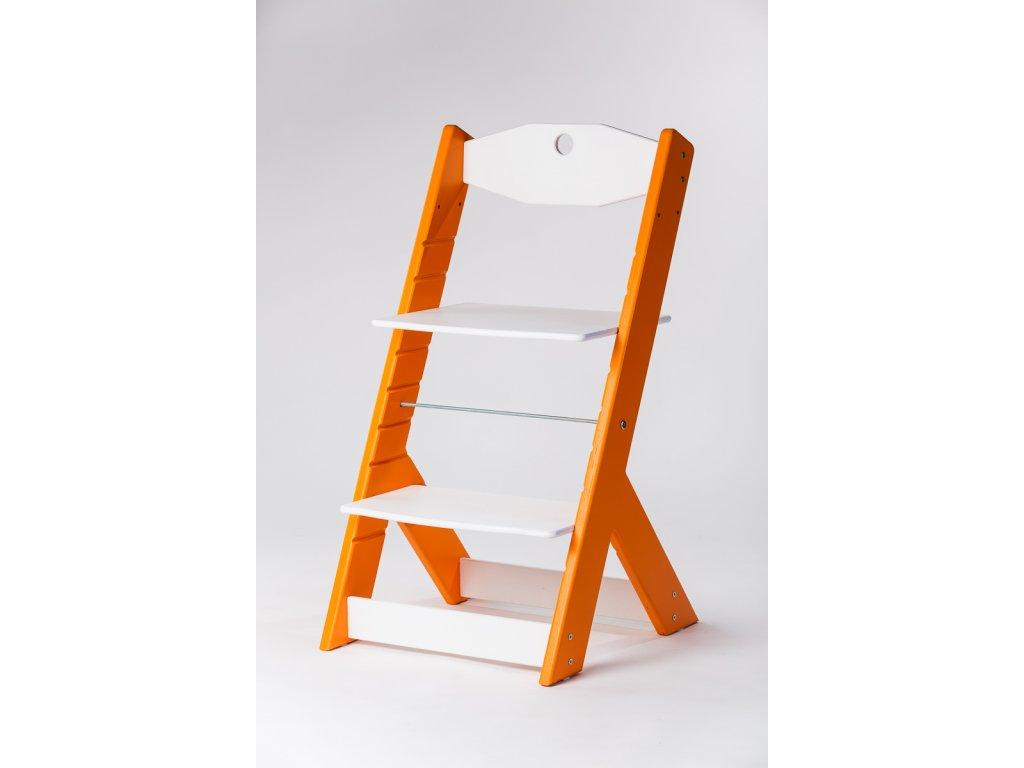 rostoucí židle OMEGA II - PRIME oranžová/bílá
