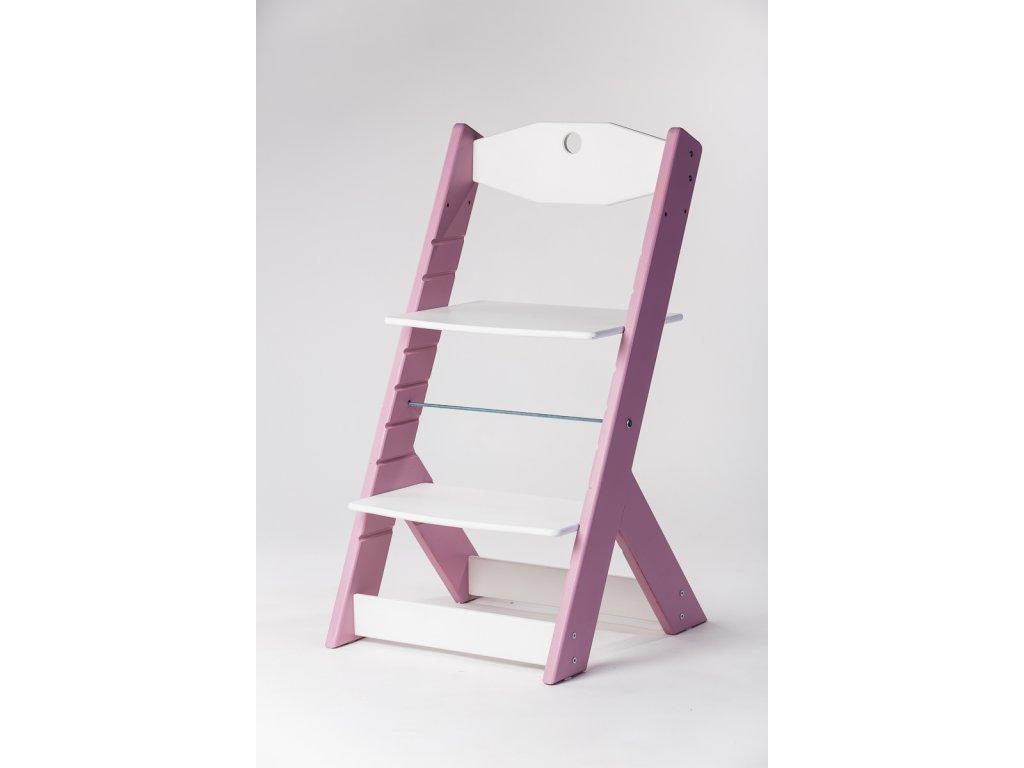 rostoucí židle OMEGA II - PRIME lila/bílá