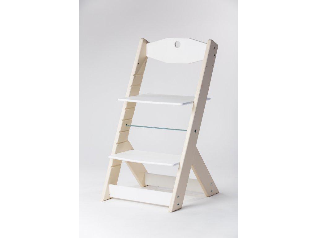 rostoucí židle OMEGA II - PRIME béžová/bílá