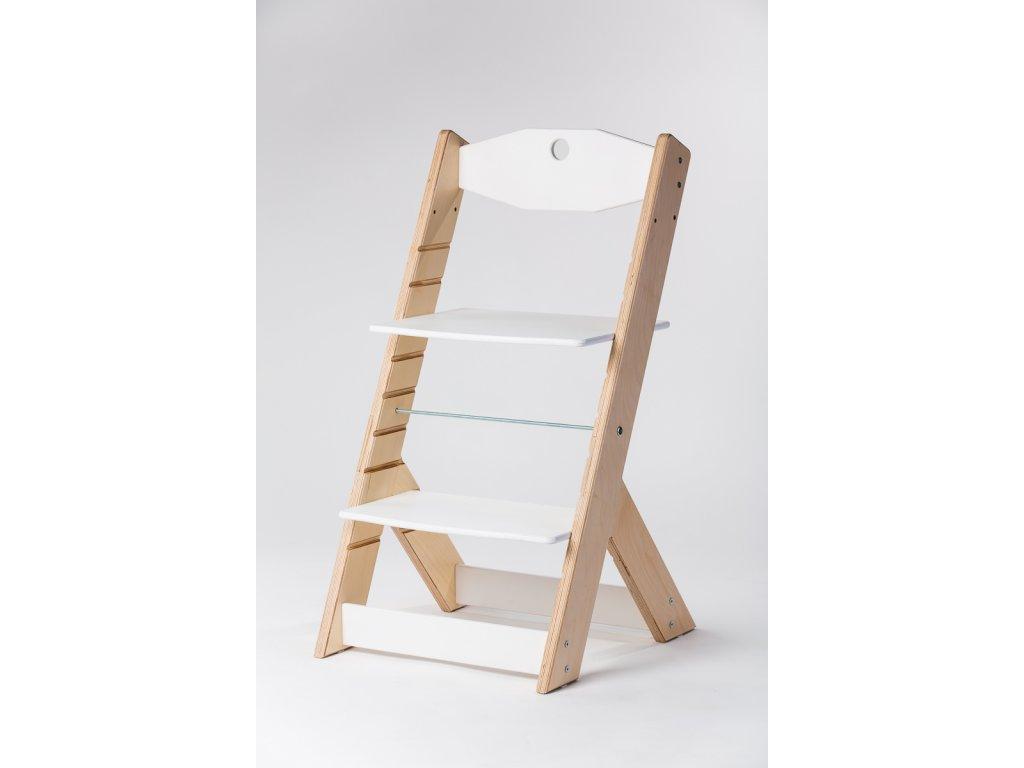 rostoucí židle OMEGA II - PRIME přírodní/bílá