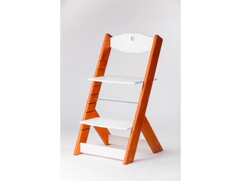 rostoucí židle OMEGA II - PRIME ohnivý mahagon/bílá