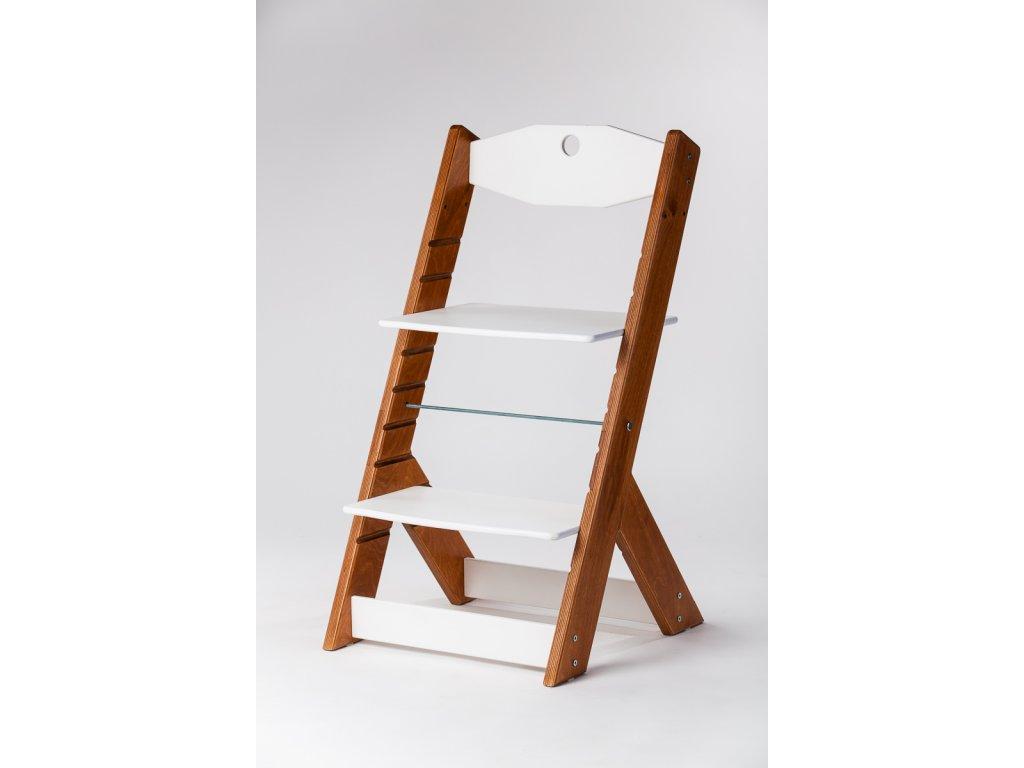 rostoucí židle OMEGA II - PRIME mahagon/bílá