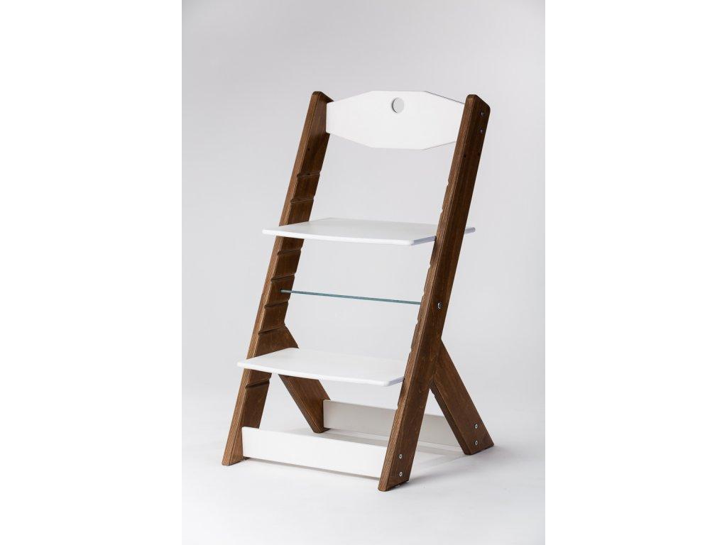 rostoucí židle OMEGA II - PRIME ořech/bílá
