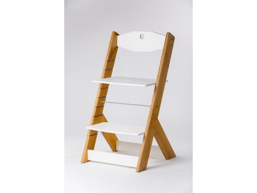rostoucí židle OMEGA II - PRIME dub/bílá