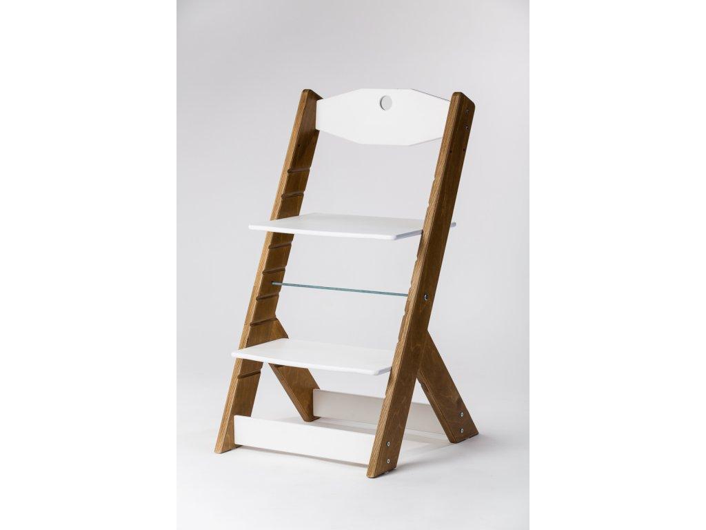 rostoucí židle OMEGA II - PRIME kaštan/bílá