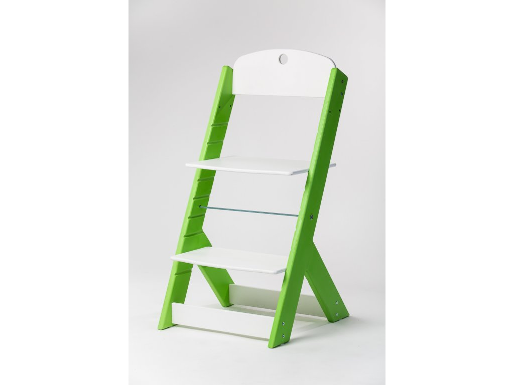 rostoucí židle OMEGA III - PRIME zelená/bílá