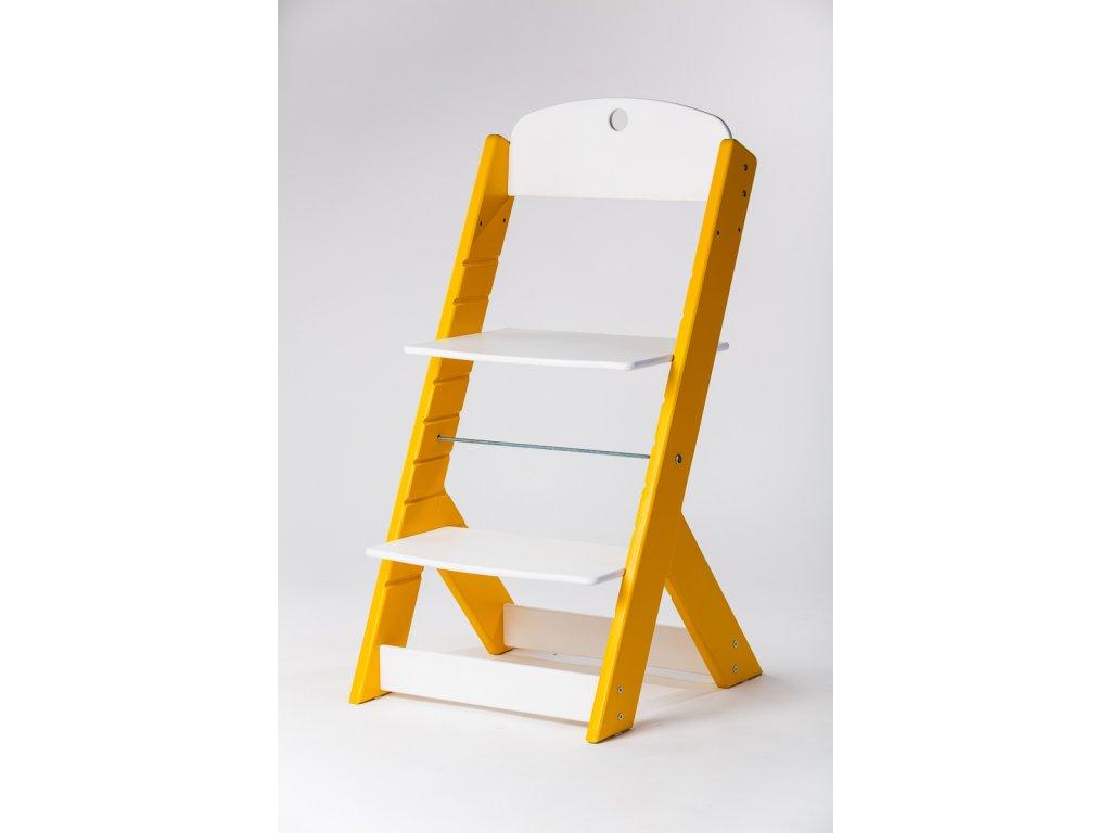 rostoucí židle OMEGA III - PRIME žlutá/bílá