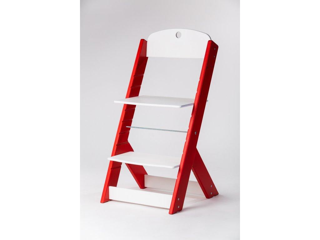 rostoucí židle OMEGA III - PRIME červená/bílá