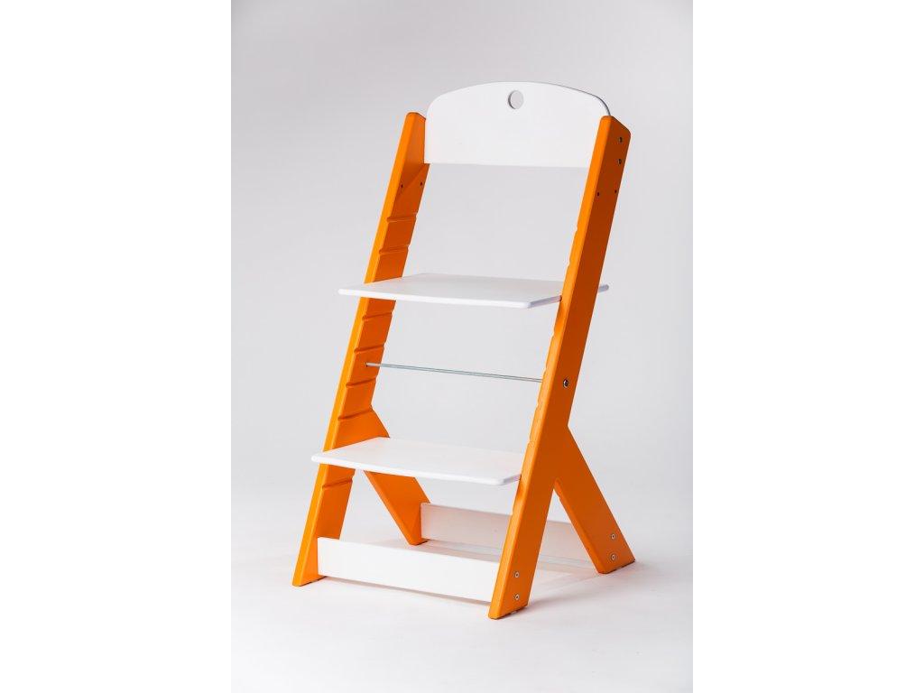 rostoucí židle OMEGA III - PRIME oranžová/bílá