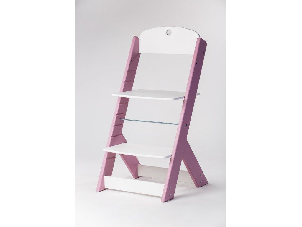 rostoucí židle OMEGA III - PRIME lila/bílá