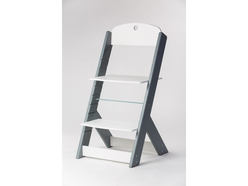 rostoucí židle OMEGA III - PRIME šedá/bílá