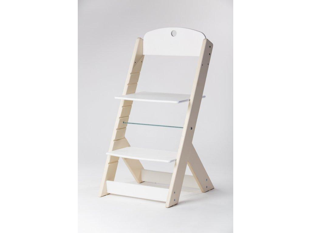 rostoucí židle OMEGA III - PRIME béžová/bílá