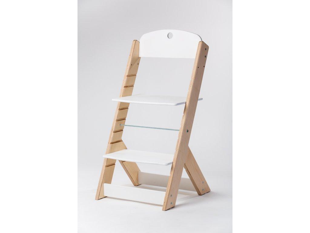 rostoucí židle OMEGA III - PRIME přírodní/bílá