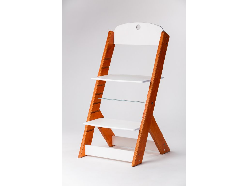 rostoucí židle OMEGA III - PRIME ohnivý mahagon/bílá