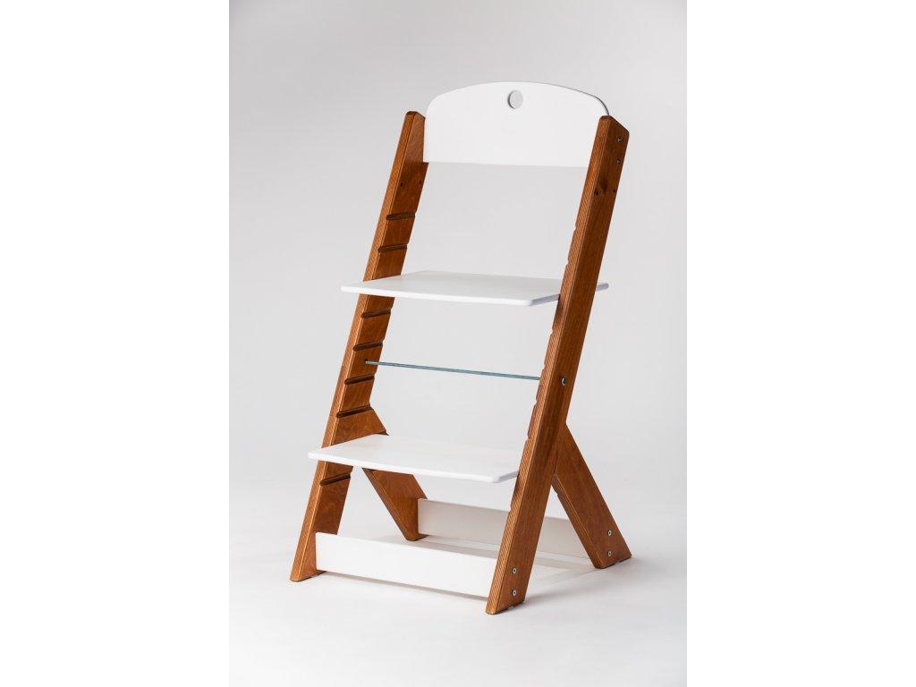 rostoucí židle OMEGA III - PRIME mahagon/bílá