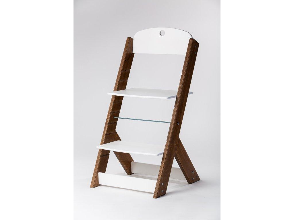 rostoucí židle OMEGA III - PRIME ořech/bílá