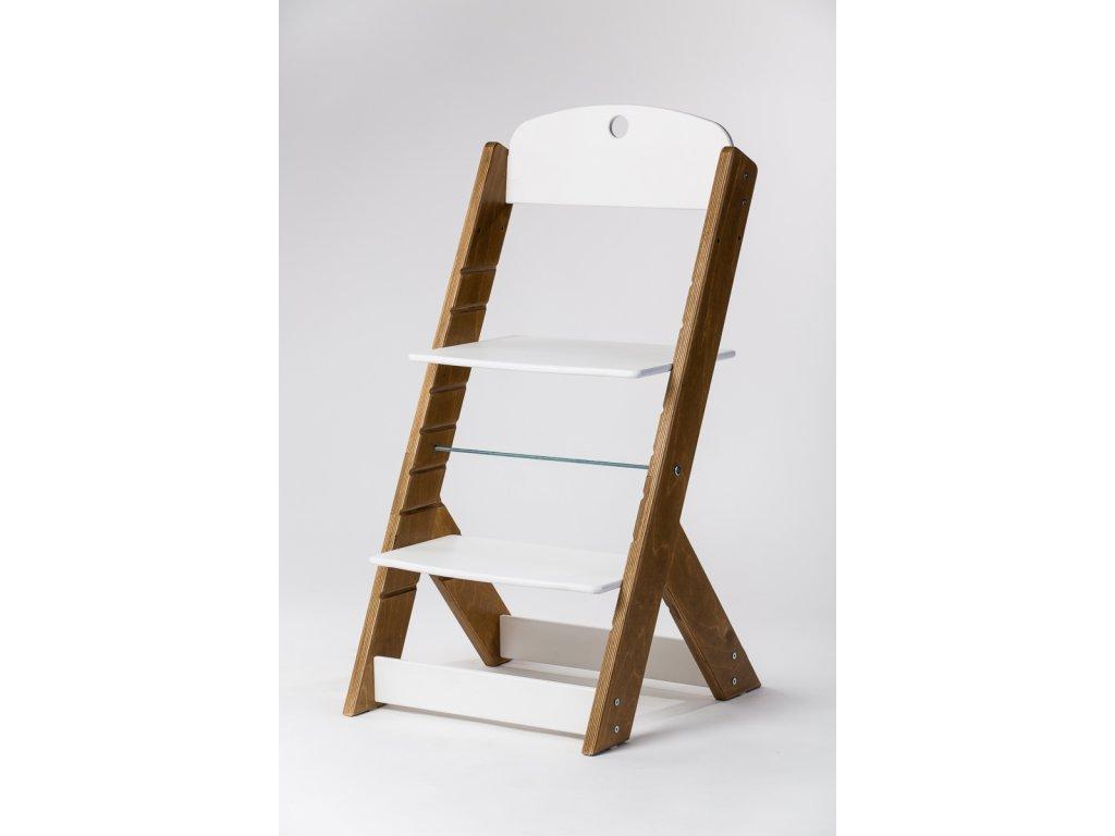 rostoucí židle OMEGA III - PRIME kaštan/bílá