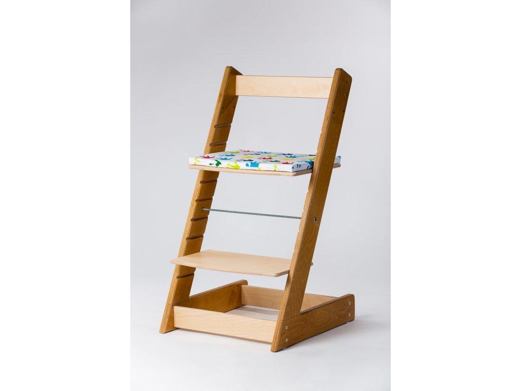 Molitanový podsedák k rostoucím židlím ALFA a OMEGA - PRIME - obtisky ručiček