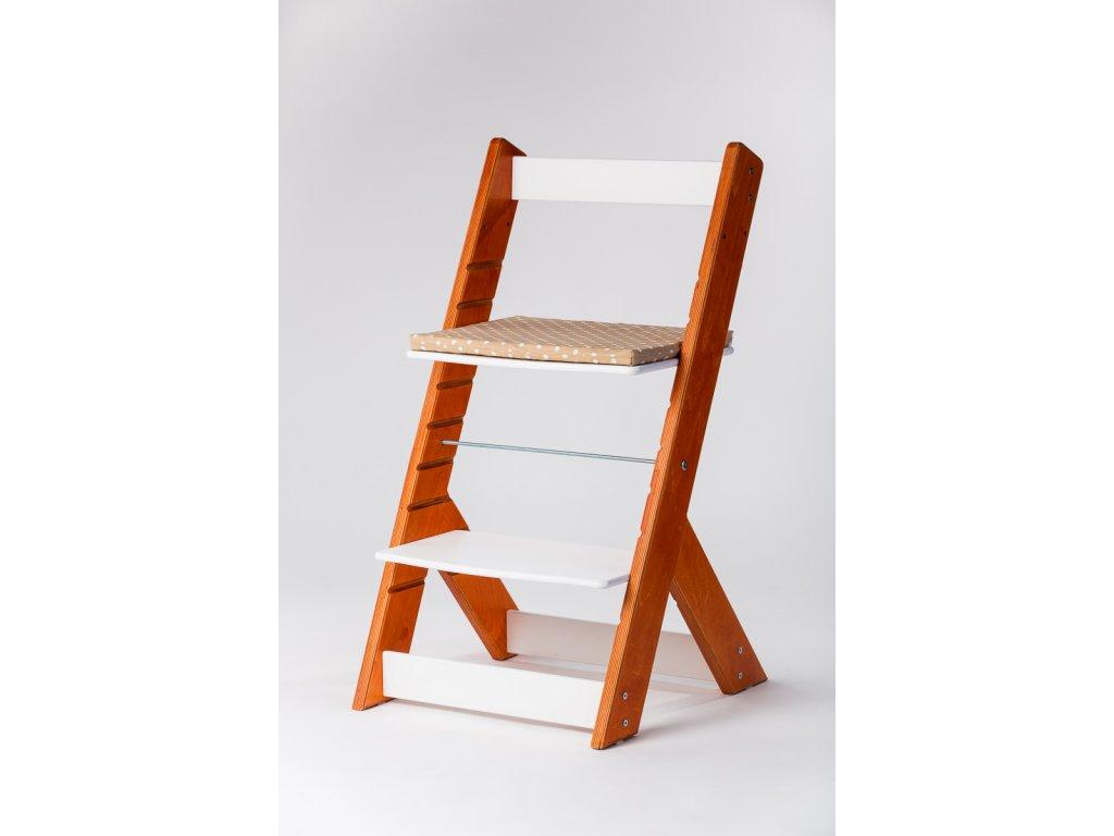 Molitanový podsedák k rostoucím židlím ALFA a OMEGA - PRIME - béžový s puntíky