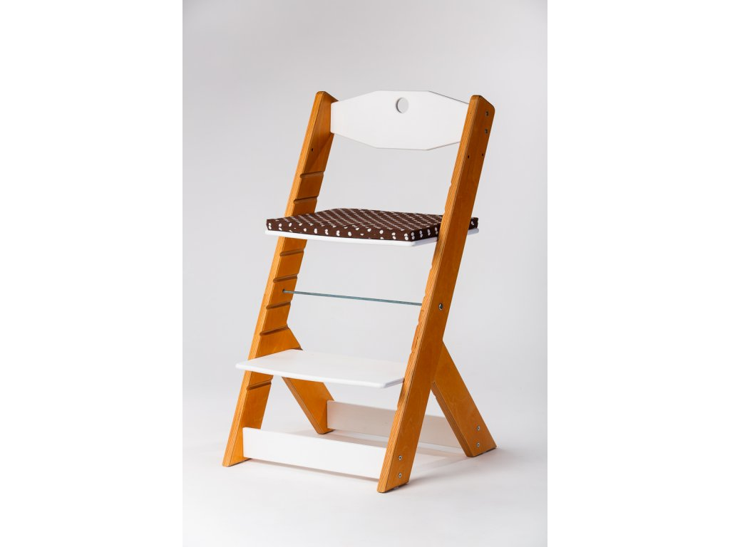 Molitanový podsedák k rostoucím židlím ALFA a OMEGA - PRIME - hnědý s puntíky