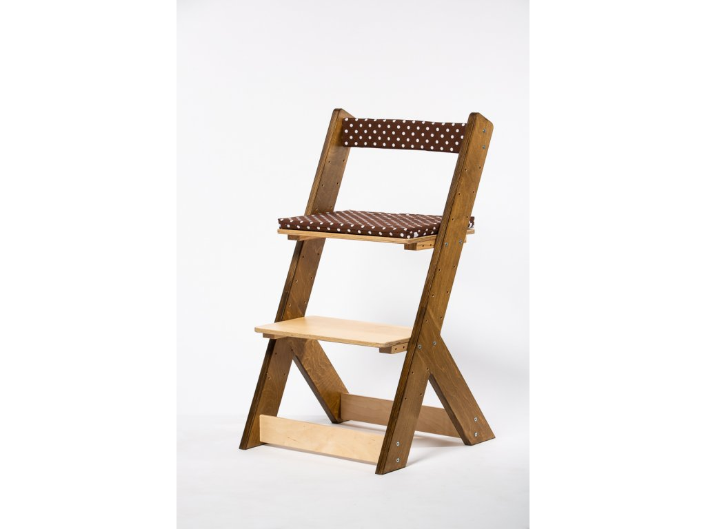 Molitanová opěrka k rostoucím židlím ALFA a OMEGA - hnědá s puntíky