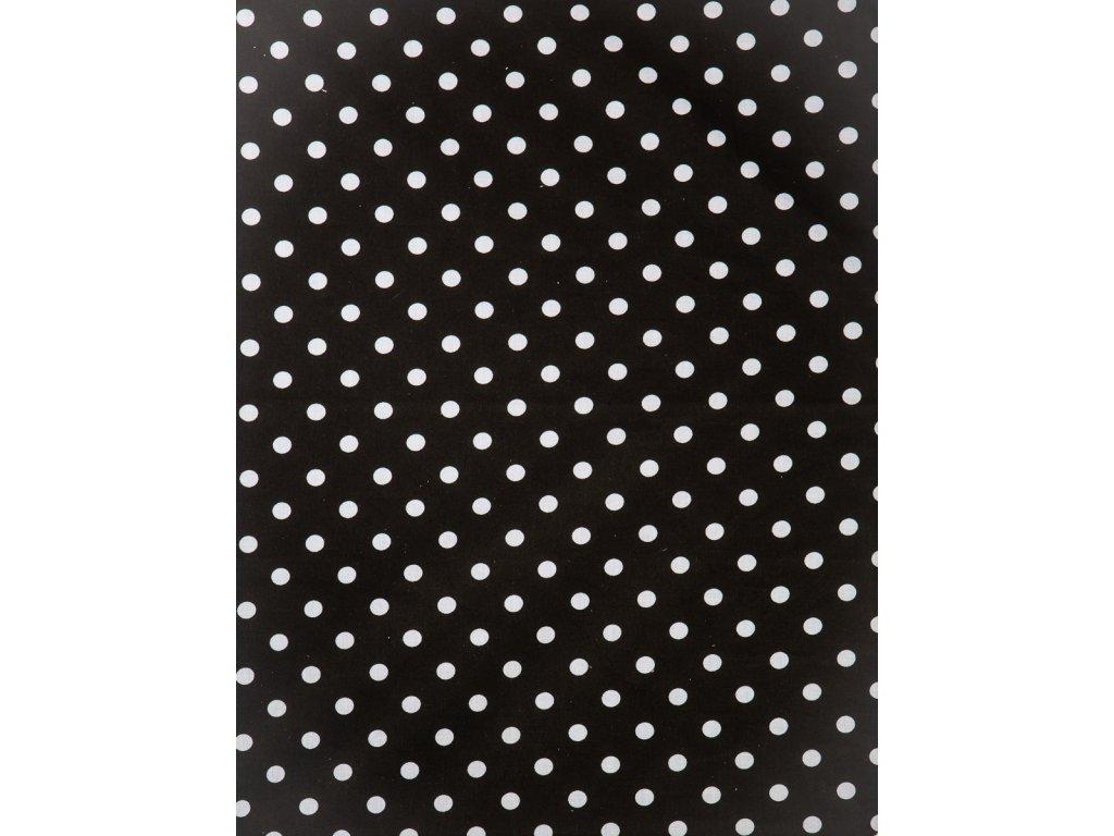 Molitanová opěrka k rostoucím židlím ALFA a OMEGA - černá s puntíky