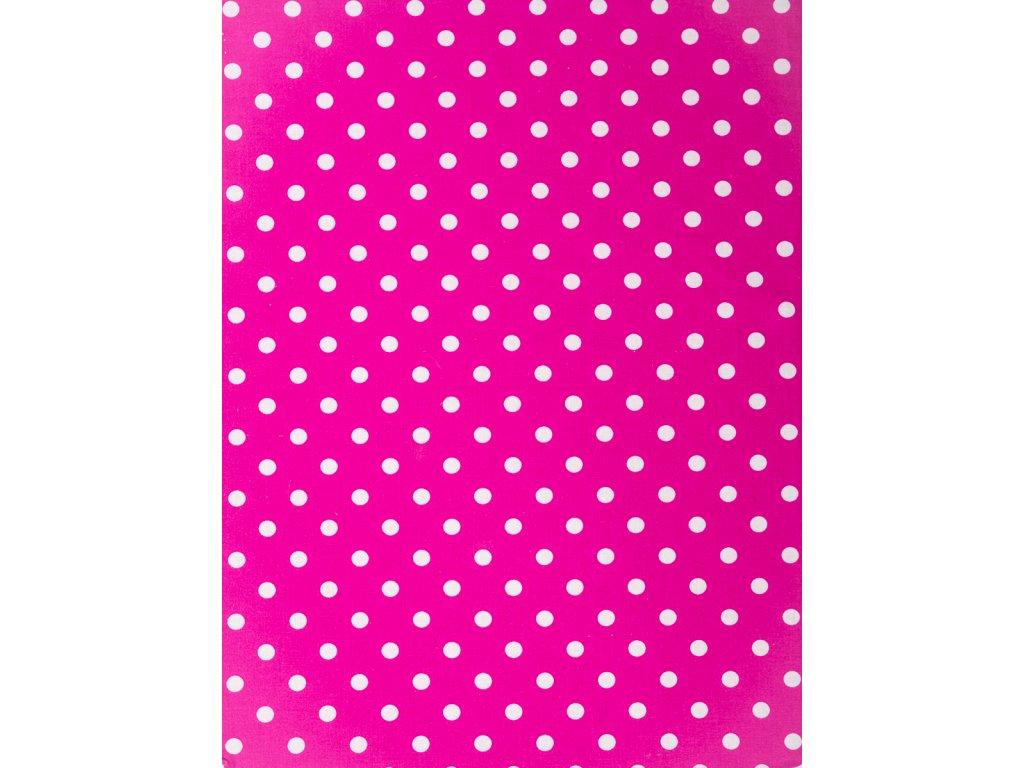 Molitanová opěrka k rostoucím židlím ALFA a OMEGA - tmavě růžová s puntíky