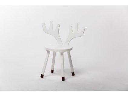 dětská židle JELEN - bílá