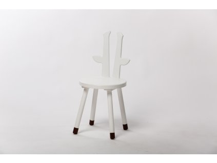 dětská židle ŽIRAFA - bílá
