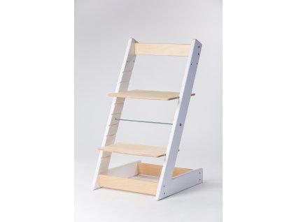 rostoucí židle ALFA I - PRIME bílá/přírodní