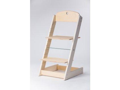 rostoucí židle ALFA III - PRIME béžová/přírodní