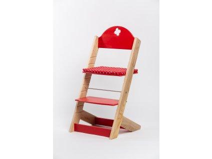 Molitanový podsedák k rostoucím židlím ALFA a OMEGA - červený s puntíky