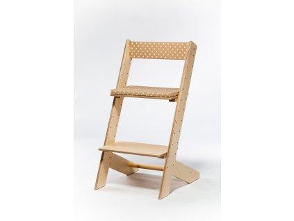 Molitanová opěrka k rostoucím židlím ALFA a OMEGA - béžová s puntíky