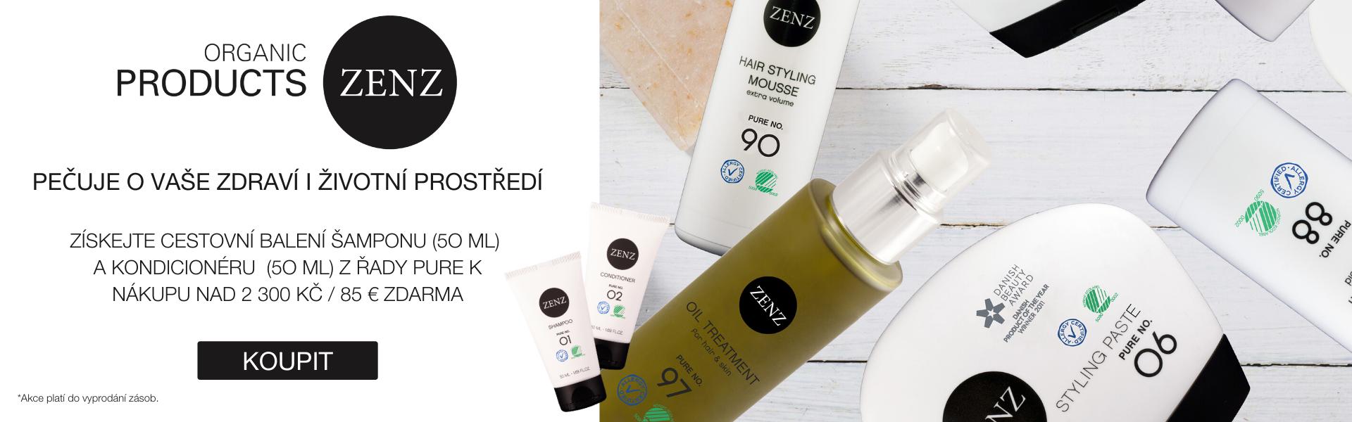 Získejte cestovní balení šamponu (5O ml)  a kondicionéru  (5O ml) z řady PURE k nákupu nad 2 300 Kč / 85 € zdarma