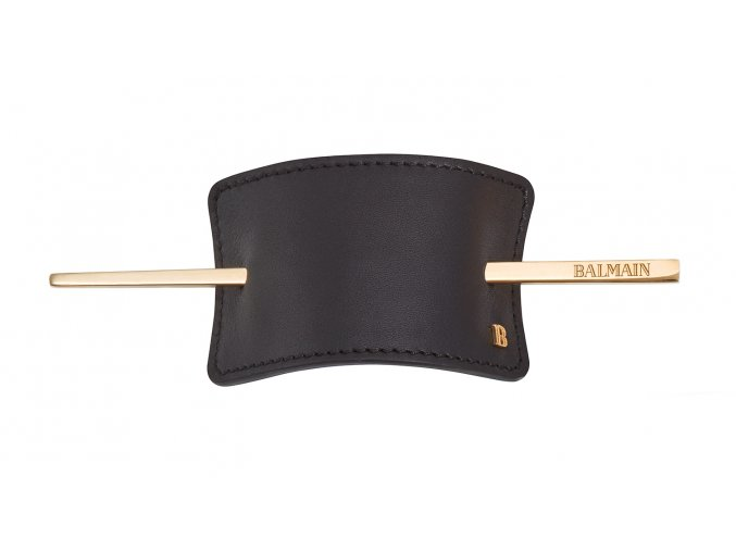 BalmainHair Accessories HairBarrette Leather Black LR