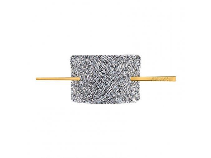 balmainhair accessories hairbarrette limitededition fallwinter19 crystalsilver 800x800