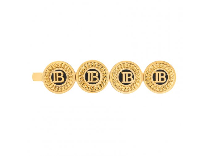 BalmainHair Accessories HairSlide Logo LimitedEdition SpringSummer20 Front