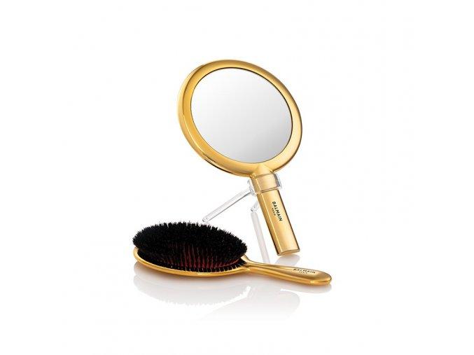 gold mirror a brush