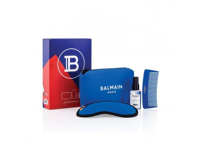 BalmainHair CosmeticBag LimitedEdition SpringSummer21 Blue withBox LR