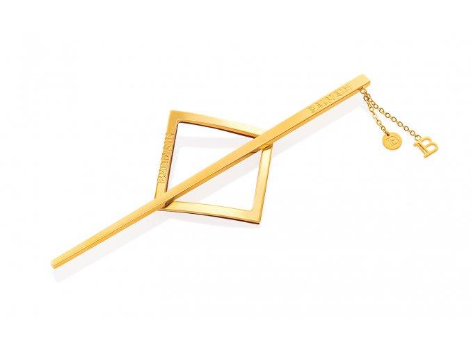 BalmainHair Accessories BarrettePourCheveux LimitedEdition SpringSummer21 JeweleryGold 01 LR
