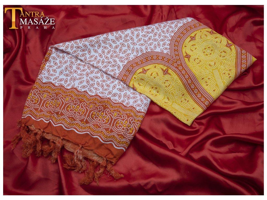 sarong flower žlutý 01