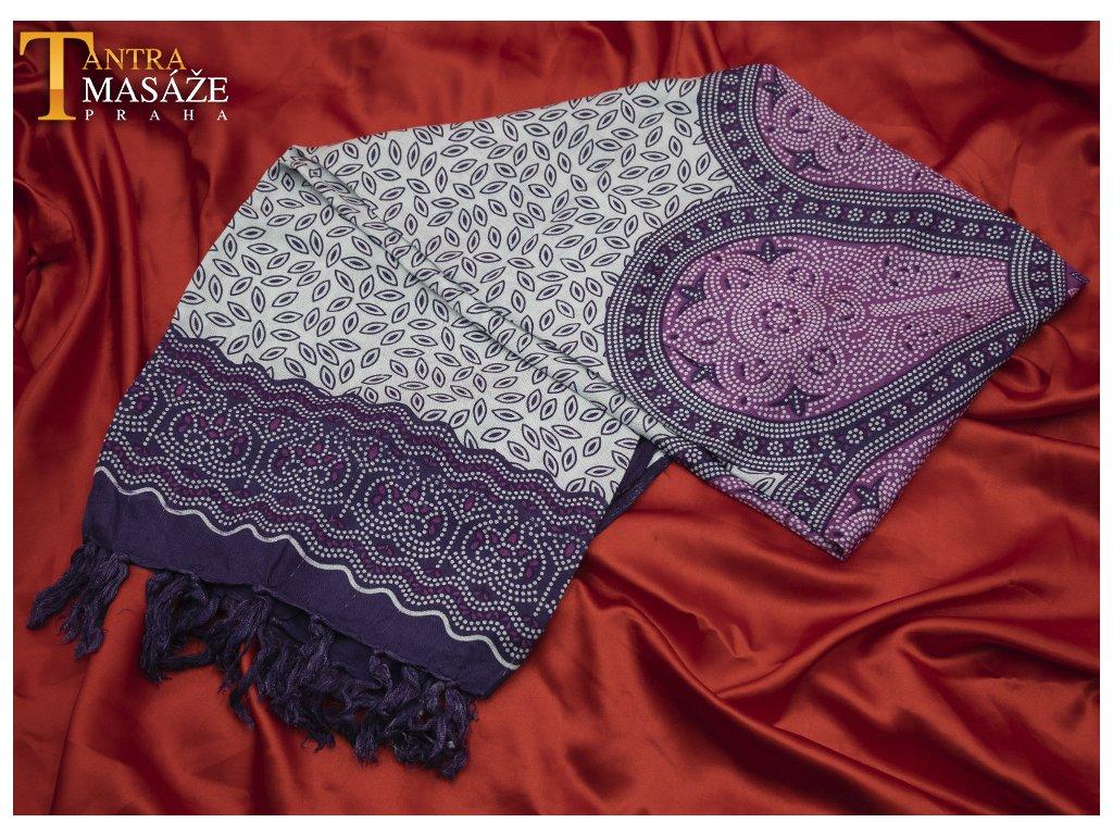 sarong flower fialová 01
