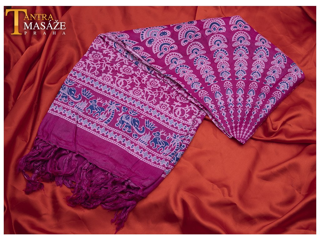 sarong mandala růžový 01