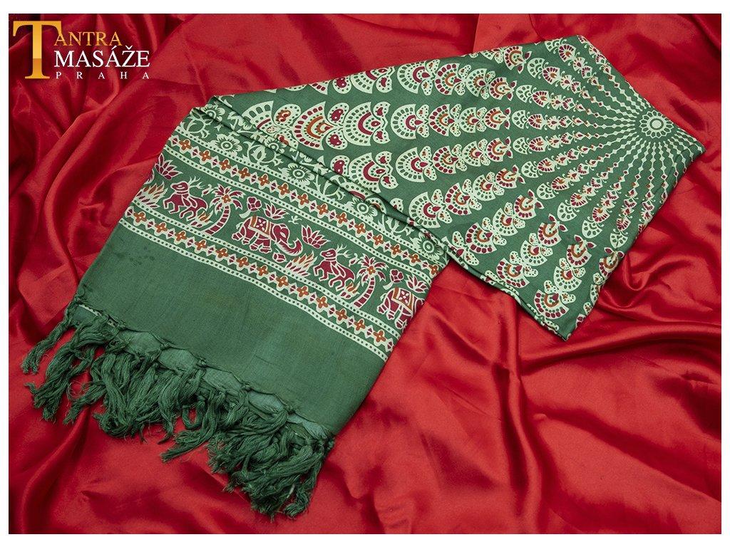 sarong mandala zelený 01