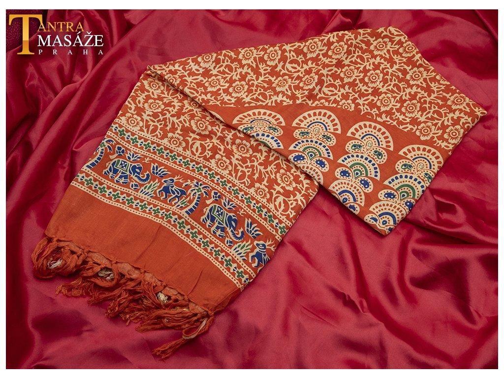 sarong mandala oranžový 01