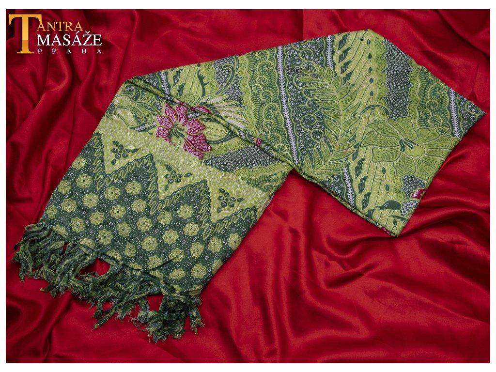 sarong peacock zelený 01